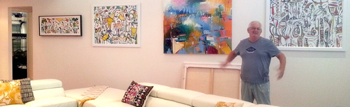 A Sanctuary Cove resident art collector adds Lucette & Judith's artwork to their collection.