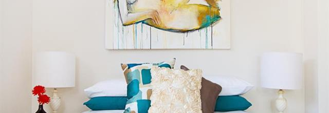 OUR ART IN REAL HOMES – Add a splash of colour in the bedroom.