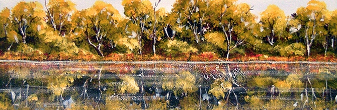 """""""Noosa River Reflection,"""" SOLD and off to a new home in Durham UK."""