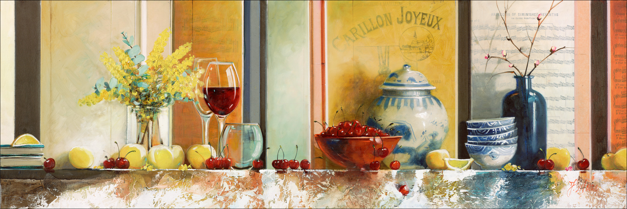 Wattle-Cherries-Still-Life-Judith-Dalozzo