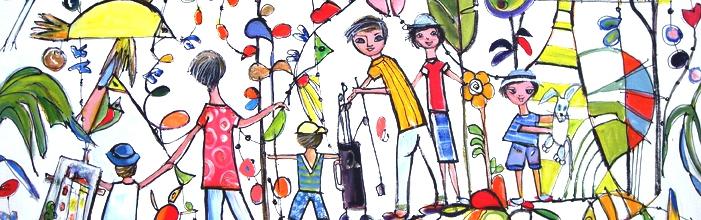 """""""Ainsi Va La Vie"""" commission painting by Lucette Dalozzo"""