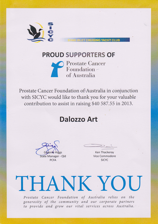 Dalozzo Art A Special Thank You Certificate
