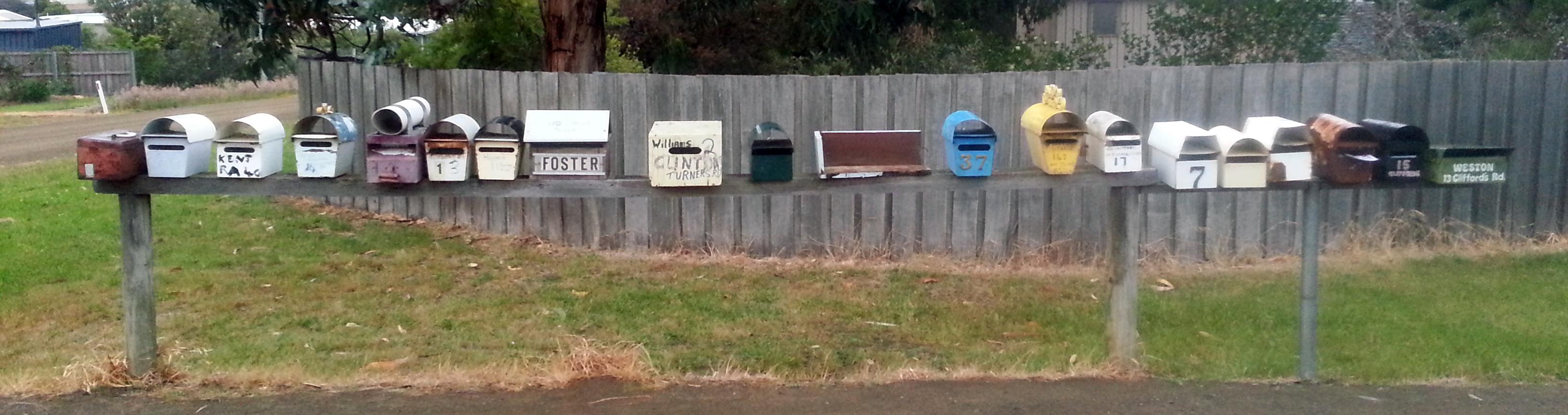 Tasmania - locals letterboxes