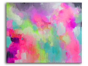 "New Abstract Art – ""Cosmic Pink"""