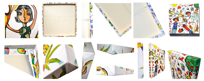 layout option 02 - images of stretched canvases