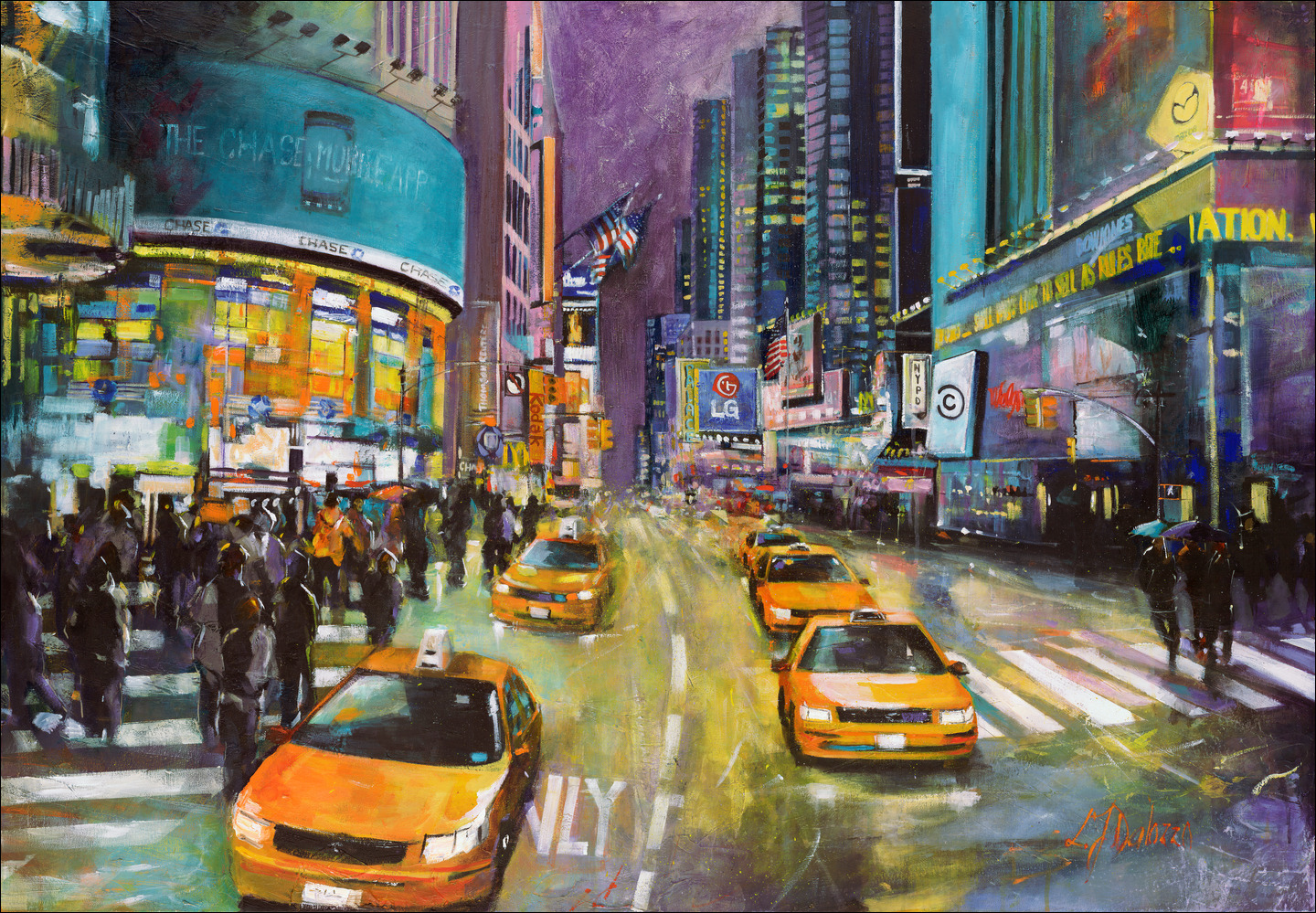 Down-5th-Ave-Time-Square-Lucette-Judith-Dalozzo
