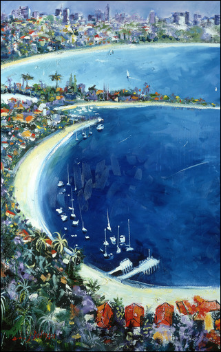 Watson-Bay-Diptych-Left-Panel-Lucette-Judith-Dalozzo